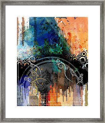 Negative Thoughts Invasion Framed Print by Bedros Awak