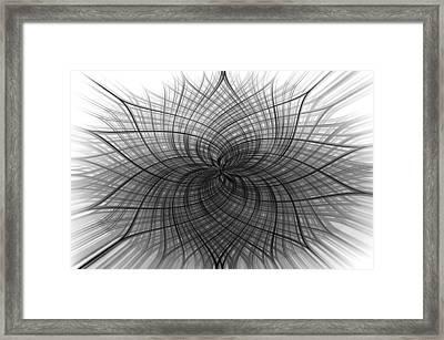 Negativity Framed Print by Carolyn Marshall