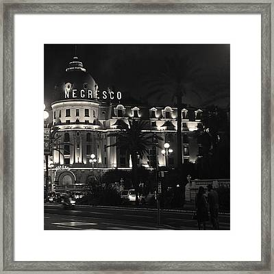 Negresco At Night Framed Print