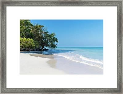 Negril Beach Morning Framed Print
