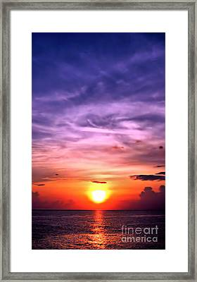 Negril Sunset Framed Print