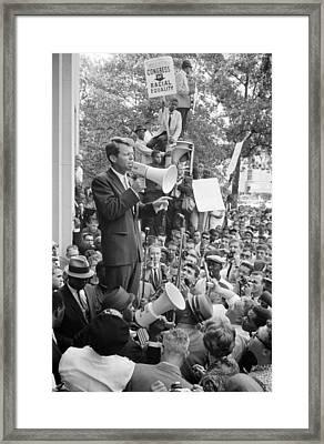 Negro Demonstration In Washington D.c Framed Print by Everett