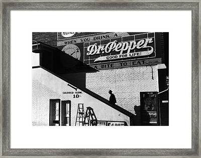 Negro Going In Colored Entrance Framed Print by Everett