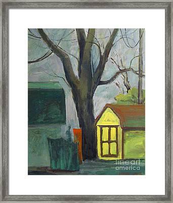Neighbor Tom Framed Print by Charlie Spear