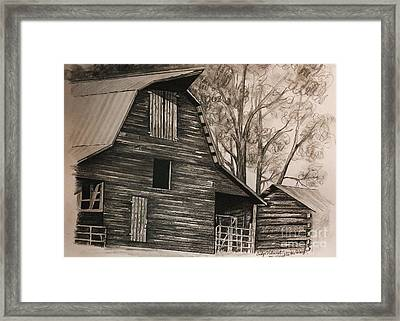 Neighborhood Barn Framed Print by Carolyn Valcourt