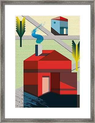Neighborhood Framed Print by Benjamin Gottwald