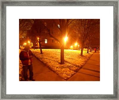 Neighborhood Block Framed Print