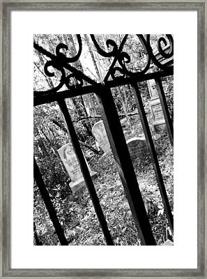 Neighborhood Of The Departed Framed Print