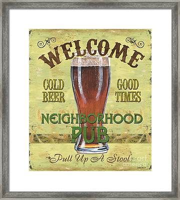 Neighborhood Pub Framed Print by Debbie DeWitt