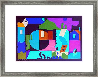 Neighborhood Stroll Framed Print by Stephen Davis