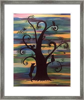 Neighborhood Tree Framed Print