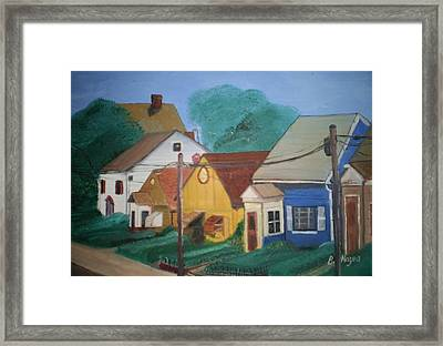 Framed Print featuring the painting Neighbors by Barbara Hayes