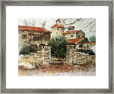 Neighbors Gate Framed Print