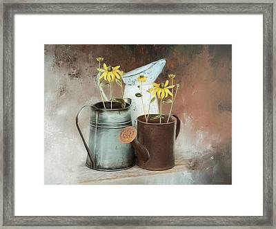 Framed Print featuring the mixed media Neighbors by Robin-Lee Vieira