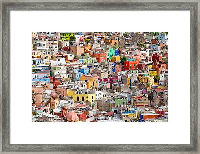 Framed Print featuring the photograph Neighbourhood. Guanajuato Mexico. by Rob Huntley