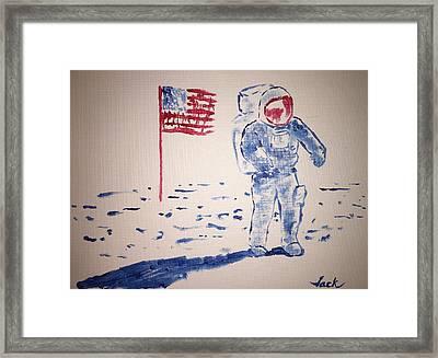Neil Armstrong Framed Print by Jack Bunds