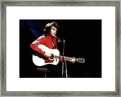 Framed Print featuring the photograph Neil Diamond 1971 by Chris Walter