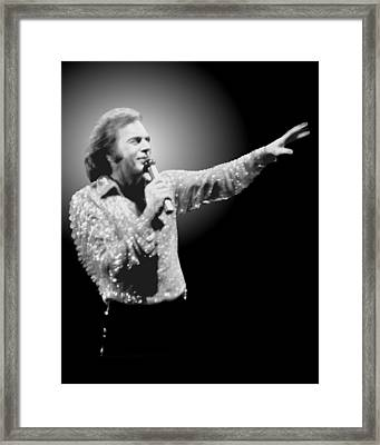 Neil Diamond Reaching Out Framed Print
