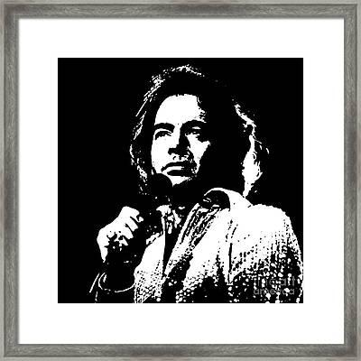 Neil Diamond Singer Framed Print by John Malone