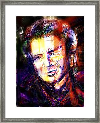 Neil Finn Framed Print by Russell Pierce