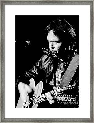 Neil Young 1986 #2 Framed Print by Chris Walter