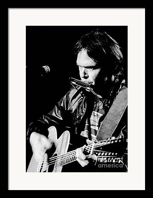 Neil Young Photographs Framed Prints