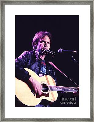 Neil Young 1986 #3 Framed Print by Chris Walter