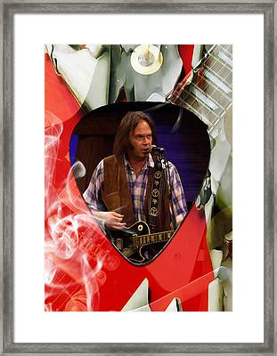 Neil Young Art Framed Print