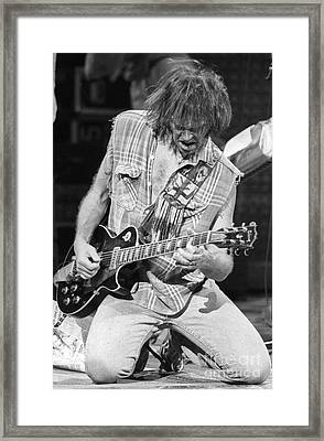 Neil Young Framed Print by David Plastik