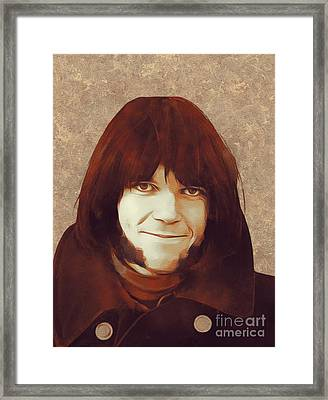 Neil Young, Music Legend Framed Print