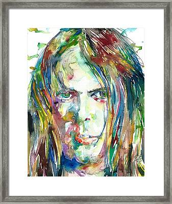 Neil Young Portrait Framed Print
