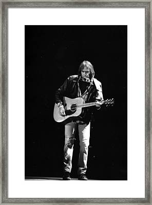 Neil Young Framed Print by Wayne Doyle