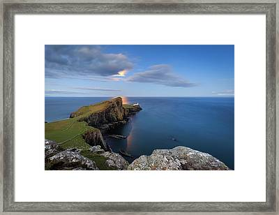 Neist Point Under The Moonlight Framed Print by Davorin Mance