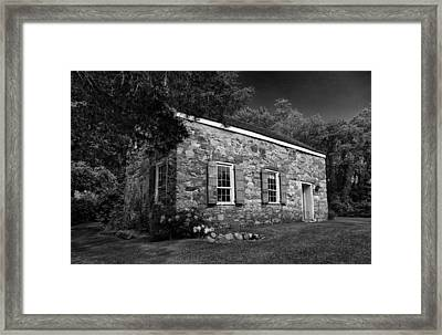 Neldon - Roberts Stonehouse Montague New Jersey Black And White Framed Print