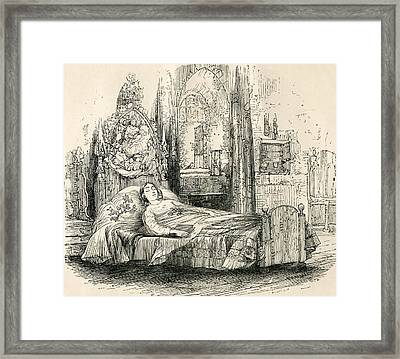 Nell Trent On Her Deathbed. From The Framed Print by Vintage Design Pics