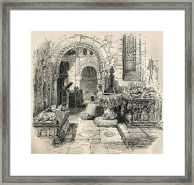 Nell Trent Sitting In The Old Church Framed Print by Vintage Design Pics