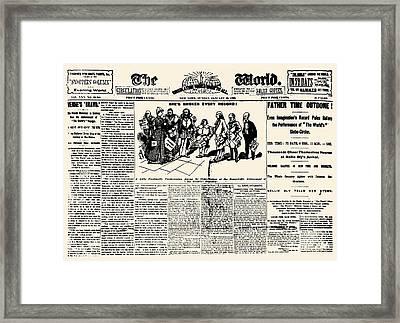 Nellie Bly (1867-1922) Framed Print