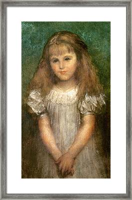 Nellie Ionides Framed Print by George Frederick Watts