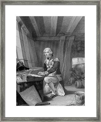 Nelson At Prayer Framed Print by English School