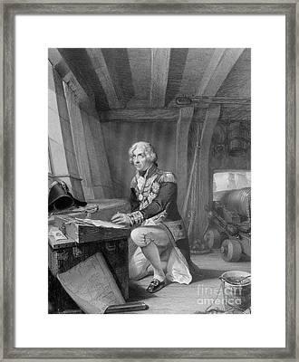 Nelson At Prayer Framed Print
