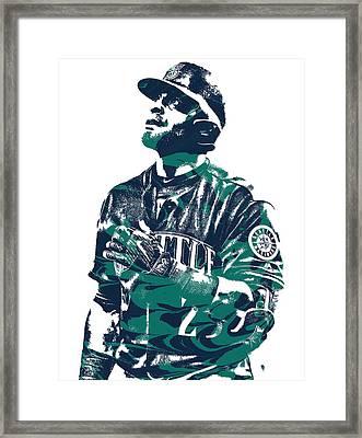 Nelson Cruz Seattle Mariners Pixel Art 4 Framed Print