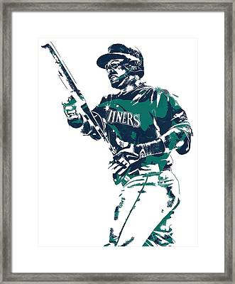 Nelson Cruz Seattle Mariners Pixel Art 5 Framed Print