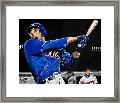 Nelson Cruz Framed Print by Tom Carlton