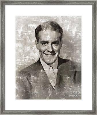 Nelson Eddy, Vintage Actor Framed Print by Mary Bassett