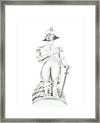 Framed Print featuring the painting Nelson by Elizabeth Lock