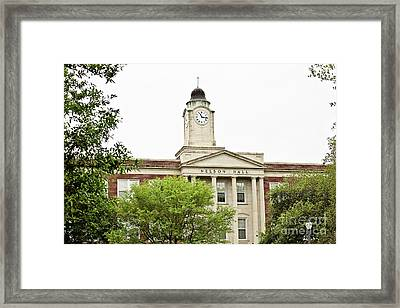 Mississippi College - Nelson Hall Closeup Framed Print