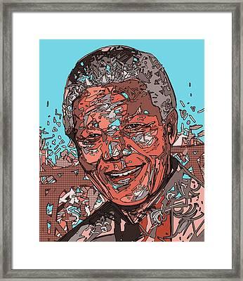 Nelson Mandela 3 Framed Print