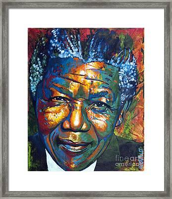 Nelson Mandela Framed Print by Christian CAZALET