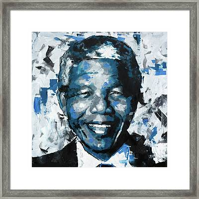 Nelson Mandela II Framed Print by Richard Day