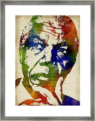 Nelson Mandela Watercolor Framed Print